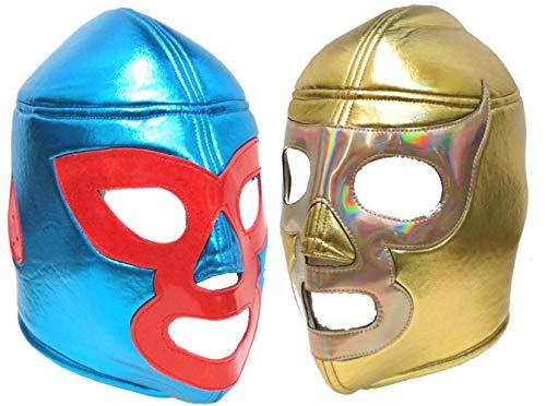 Combo de máscara de luta livre Lucha Libre e Ramses para adultos da Nacho Libre