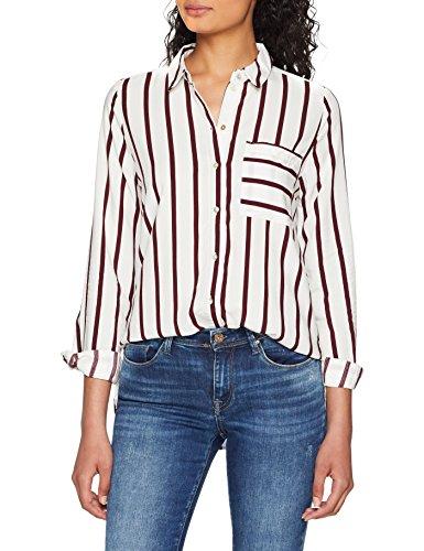 ONLY NOS Damen Bluse Onlsugar L/S Shirt Noos Wvn, Mehrfarbig (Cloud Dancer Stripes: Port Royale Stripes), 36