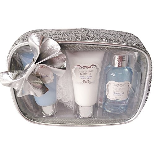 Gloss! Sparkling Bliss Trousse de Bain Nœud Fleur de Coton 4 Pièces, Coffret Cadeau-Coffret de bain