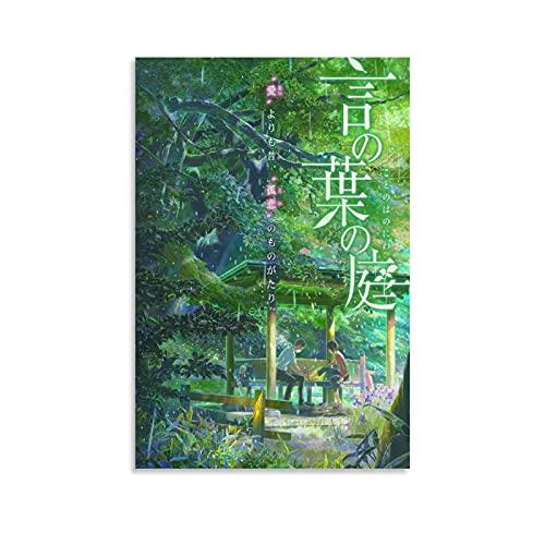MAFENG Anime Garden of Words Koto No Ha No Niwa Poster décoratif sur toile pour salon, chambre à coucher 30 x 45 cm