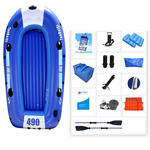 YIDPU Gommoni Gonfiabili Set,deriva Pesca Addensata Resistente Vento E alle Onde Anti Etàdeposito Pieghevole Portatile,Adatto per Outdoor Rafting Competizione,Five People