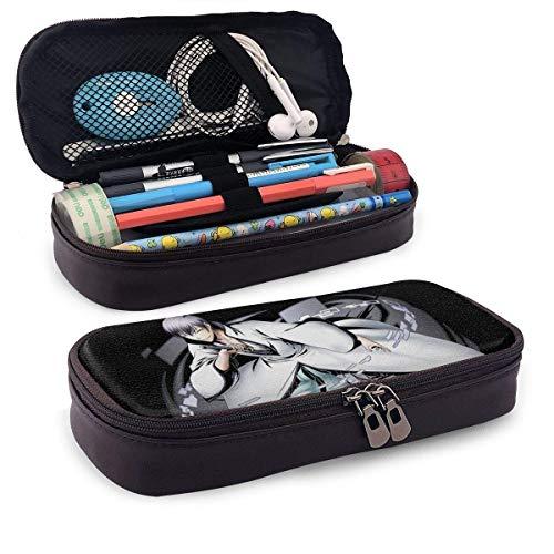 YOLOP Federmäppchen Pencil Case Big Capacity High Capacity Pen Pencil Pouch Desk Organizer Practical Bag Holder with Zipper for School & Office - Anime Bleach - Ichimaru Gin