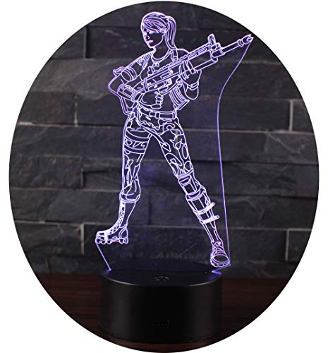 3D Illusion Nuit Lumière Win-Y LED Bureau Table Lampe 7 Couleur Tactile Lampe Maison Chambre Bureau Décor pour Enfants D'anniversaire De Noël Cadeau (Kurando Mitsutake)