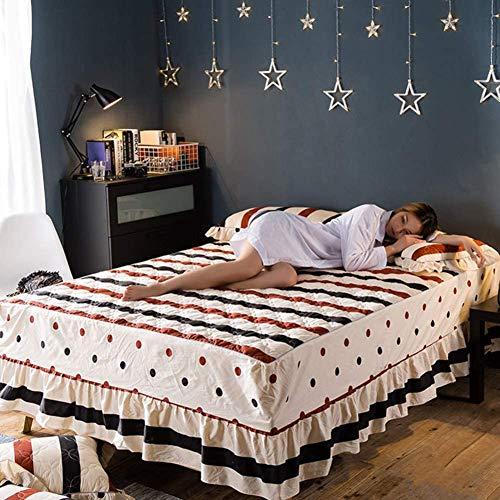 HEWEI Bed rok bed dikker blad beschermer gewatteerde bedsprei Plus katoen-V 180x200x45cm (71x79x18inch)