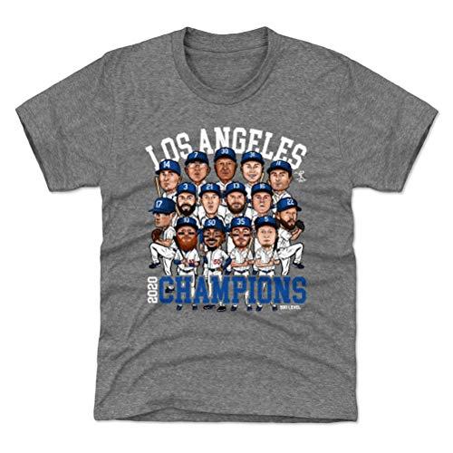 500 LEVEL Mookie Betts Los Angeles 2020 Champs Youth Shirt (Kids Shirt, Small (6-7Y), Tri Gray) - Los Angeles Baseball 2020 Champions WHT