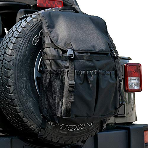 Heelay Fits Jeep Wrangler Spare Tire Trash Bag Backpack Tool Organizers Trunk Cargo Bags for JL JK TJ YJ Luggage Multi-Pockets Backpack