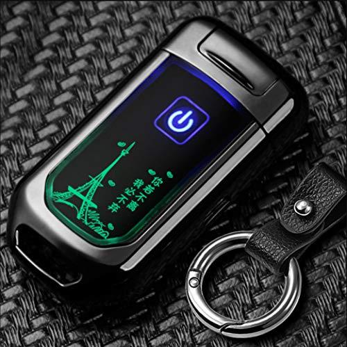 Keychian Induktion USB Doppelbogen Ladegerät Feuerzeug Schlüsselring Elektronischer Zigarettenanzünder Personalisierte Schlüsselanhänger
