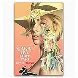 HJZBJZ Lady Gaga Fünf Fuß Zwei Netflix Documenta Poster