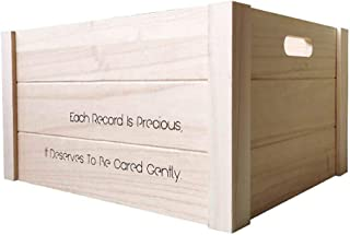 Caja de Almacenamiento de CD Almacenamiento de Registros de Almacenamiento apilable LP Vinilo Albumes Cubo Natural CD Cont...