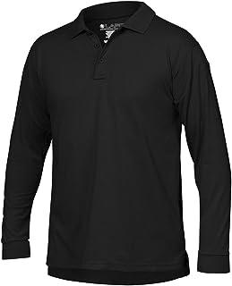 LA Police Gear Men Antiwrinkle Operator Tactical Long Sleeve Polo Shirt