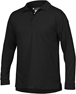 LA Police Gear Men Antiwrinkle Operator Tactical Long Sleeve Polo Shirt