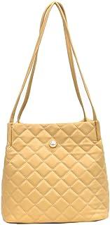 Lingge embroidery Shoulder Bags Women's Simple fashion handbag Yellow