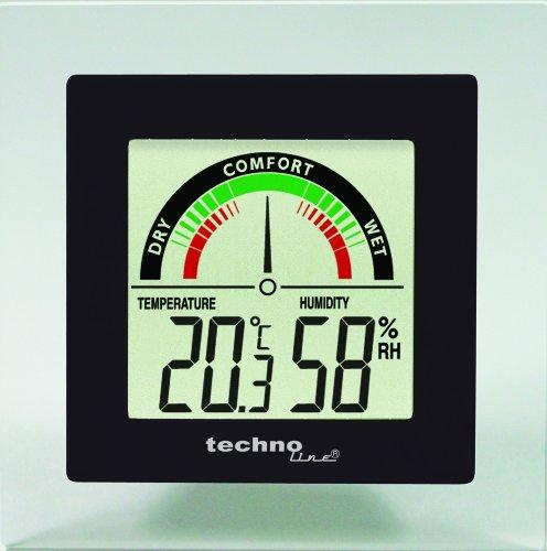 Technoline Temperaturstation WS 9415 mit Innentemperaturanzeige sowie Innenluftfeuchteanzeige und Raumkomfortanzeige
