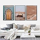 kingxqq Boho Landschaft Wandkunst Wüste Reisedruck