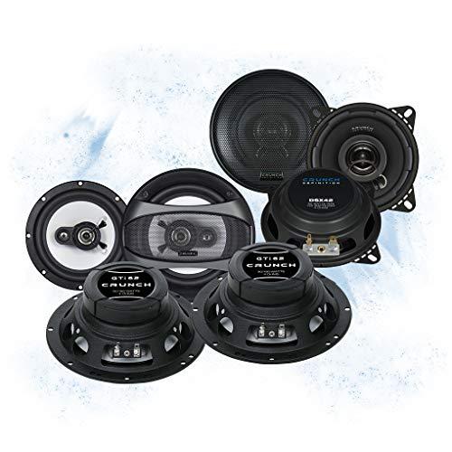 Crunch Front/Heck 16,5cm/10cm Auto Lautsprecher/Boxen/Speaker Komplett-Set kompatibel für VW