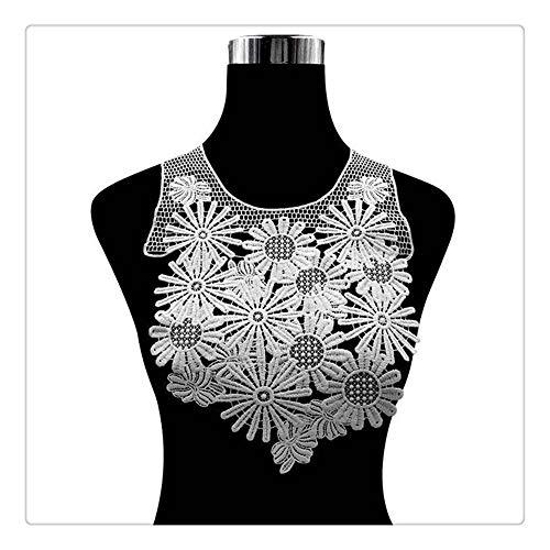 CGS2 4 Estilo 3D Venise Vestido de Tela de Encaje Apliques con Motivos de Costura de la Blusa Bordado Apliques Recorta el Borde de Fuentes de Costura Crafts Fuentes de Costura de Bricolaje