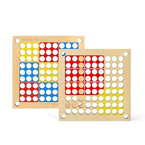 Yifuty Sudoku Tabletop jeu, Backgammon, Early Education Puzzle/éducatif Fun/main Capacité/focus formation, éducation précoce garçon et fille cadeau