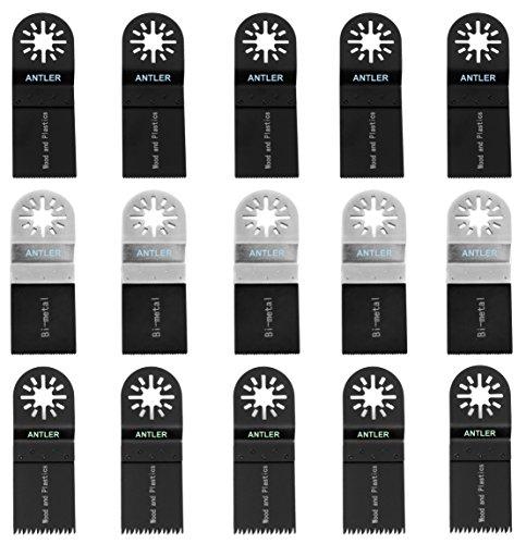 Antler AB15CBA Antler zaagbladen Kit Mix messen multitool oscillerende gereedschap accessoires