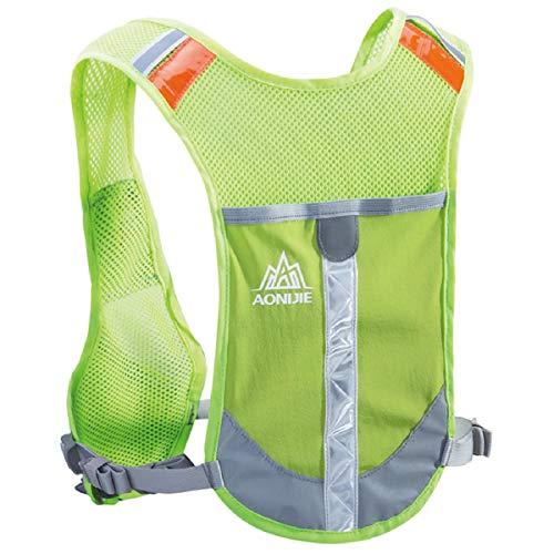 Azarxis Hydration Backpack Vest Pack Bag Reflective Running Gear for Men Women Trail Marathon Runner Rucksack Cycling Hiking Outdoor (Fluorescent Green)