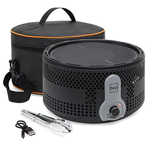 Best Choice Products 16in Portable Electric Tabletop Charcoal BBQ Grill for Indoor and Outdoor Cooking w/Travel Bag