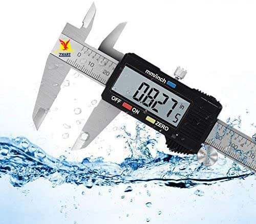 zhart Digital Vernier Caliper WIth LCD, Get Precision Fractional Measurements In Inch