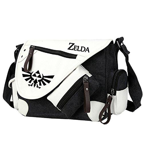 YOYOSHome Anime The Legend of Zelda Cosplay Handbag Messenger Bag Shoulder Bag School Bag (Black)