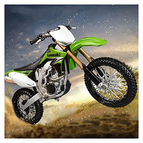 Boutique 1/12 para KAW┐ASAKI KX 450F Motocicleta Diecast Motocross Aleación Metal Modelo Motocicleta Juguetes para Niños Regalos Cumpleaños