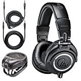 Audio-Technica ATH-M50x Professional Monitor Headphones + Slappa Full...