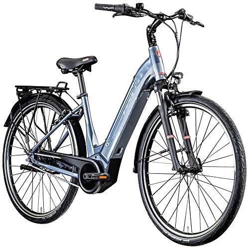 Zündapp Z909 700c E-Bike E Citybike 28 Zoll Pedelec Bosch Stadtrad Hollandrad (grau, 46 cm)