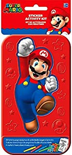 Super Mario Brothers Sticker Activity Kit   Party Favor   1 Plastic Case with 20 Activity Pages and 4 Markers