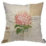 AOYEGO Funda de almohada con diseño de hortensias rosas, ramo...