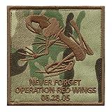 LEGEEON Multicam Operation Red Wings Never Forget Lone Survivor SDVT-1A Skull Frog Navy Seals Fastener Patch