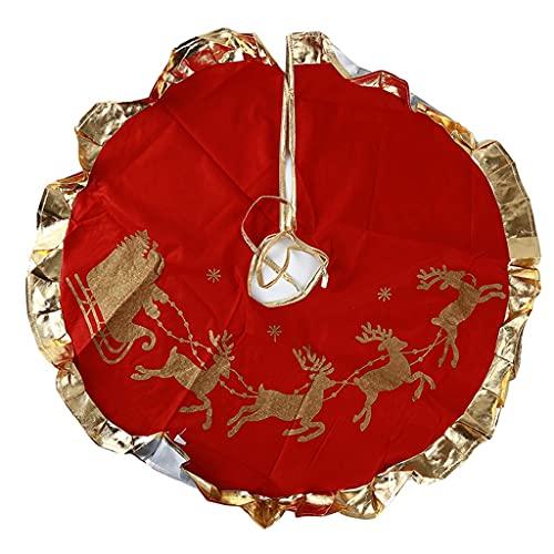 GFDFD Árbol de Navidad Cubierta de Piso árboles Falda Navidad Bricolaje Decoración...