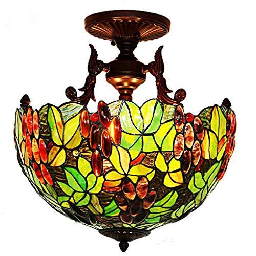 Lage prijs tafellamp bedlampje kristallen kroonluchter hanglamp wandlamp plafondlamp, 16 inch plafondlamp, European Creative Grape/glasschilderij kroonluchter inbouwlamp
