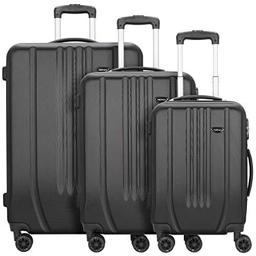 NOWI Hardshelled 3.0 4-Rollen Kofferset 3tlg. mit Doppelrollen