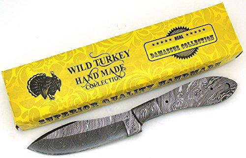 Wild Turkey Handmade Custom Full Tang Damascus Steel Blank Blade Knife (DB-5)