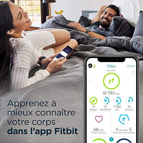 Fitbit Versa 2, Édition Spéciale, Montre Connectée Forme et Bien-Être avec Contrôle Vocal, Score de Sommeil et Musique, Tissé Gris Fumé, avec Amazon Alexa Intégrée