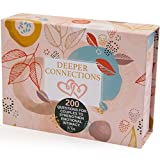 Deeper Connections: Card Game for Couples   200 Meaningful Conversation Starters to Connect & Reconnect   Fun Conversation Cards for Couples to Improve Emotional Intimacy & Build Strong Relationships.
