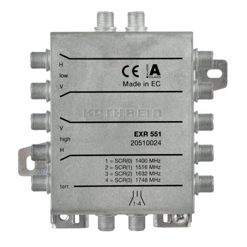 Kathrein EXR551 Einkabel-Umschaltmatrix - 1 Ausgang Für Max. 4 Receiver