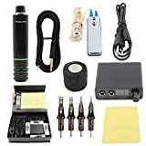 Tattoo Pen Kit-Yuelong Rotary Tattoo Machine Kit Tattoo Pen RCA Cord Power Supply Cartridges Needles Foot Pedal Practice Skin Pigment Ink Caps Tape Tattoo Accessices Tattoo Case