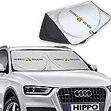 Hippo(ヒッポ)車用遮光サンシェード フロントガラス 日よけサンシェード 遮光フロントシェード 簡単取付 サンシェード 全窓カバー
