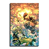Anime Game Overwatch Poster Junkrat and Roadhog Picture Art Print Canvas Wall Art Home Room Decor -681 (12x18inch-No framed)