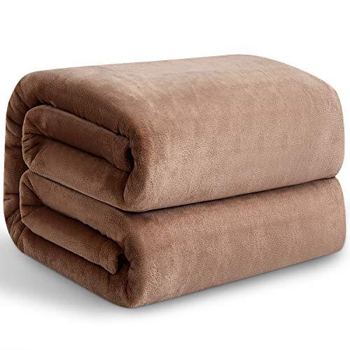 Hansleep Kuscheldecke Kamel 130x165 cm Wohndecke Fleecedecke extra Weich & Warm Sofadecke/Couchdecke Flauschige Decke Mikrofaser Bettüberwurf Tagesdecke