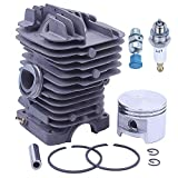 Adefol 49MM Chainsaw Cylinder Piston Kit for Stihl MS390 MS290 MS310 029 039 Replacement Parts with Spark Plug Decompression Valve for 1127 020 1216