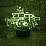 Luz Nocturna Led Carro Blindado Diapositiva 3D Lanplana Luz Nocturna Decoración Visual Regalo Infantil para Niños Luz Nocturna Afv Car