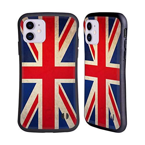 Head Case Designs Británicos De Gran Bretaña Banderas Vintage Carcasa híbrida Compatible con Apple iPhone 11