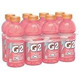 Gatorade G2 Raspberry Lemonade Low Calorie Thirst Quencher Sports Drink, 20 fl oz, 8 pack (Case of 2)
