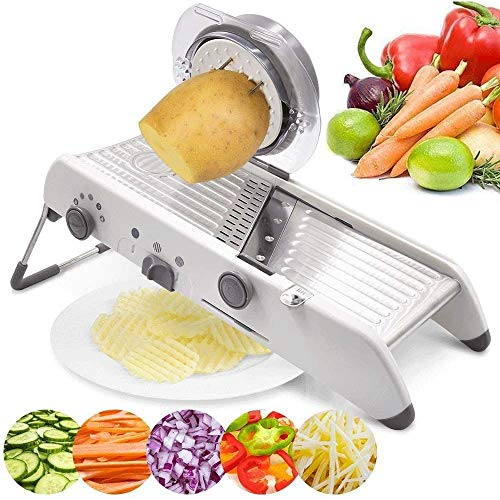 YIBOKANG Slicer Adjustable,BPA-Free Veggie Spiralizer Slicers,18 Types Adjustable Stainless Steel Manual Cutter Vegetable Grater,Vegetable Slicer,for Cutting Fruits/Vegetables