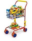 Bayer Design 75002AA Spielzeug Einkaufswagen, integriertem Puppensitz, Kaufladenzubehör, bunt/Inhalt