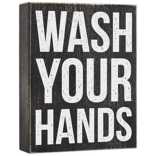 Wash Your Hands Sign - Bathroom Signs Decor - Kitchen...
